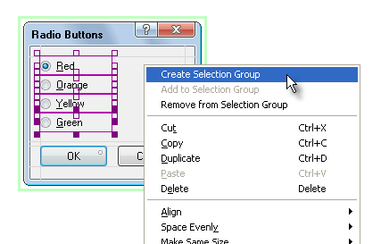 Radio Button Selection Group