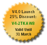 Version 4 Launch Coupon