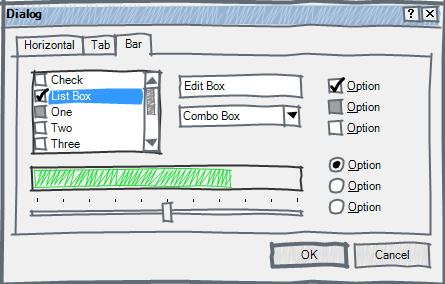Simple dialog with Sketch visual style