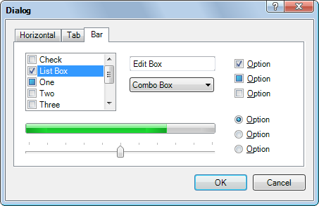 Simple dialog with Windows Vista visual style