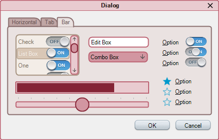 Simple dialog with Demo theme applied