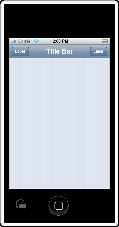 iPhone Contacts Application - Blank Screen Custom Element