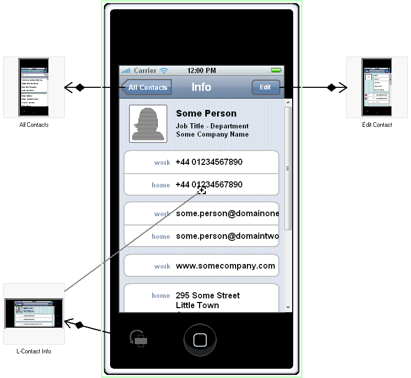 IPhone Contacts Application