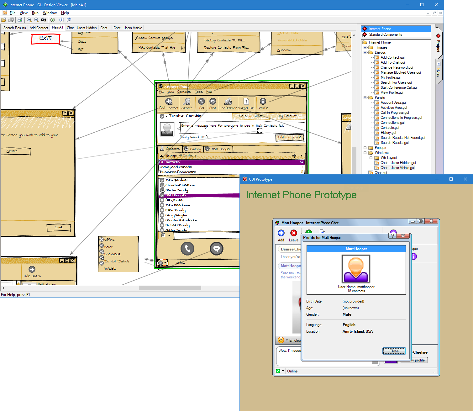 GUI Design Viewer screenshot