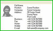 Horizons Application Contact Card Design