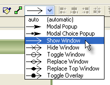 New Navigation Type selector on the toolbar