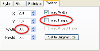 Maintain Component Size Option