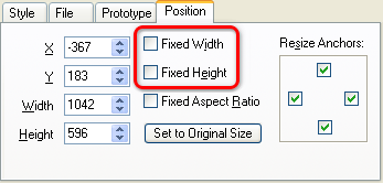 Unconstrained Component Size Option