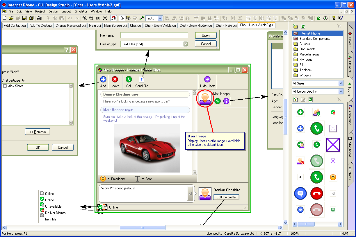 Gui design studio user interface design and software for Program design tools