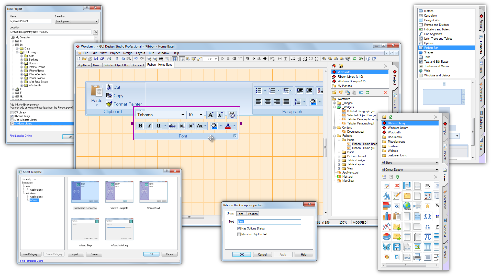 Gui design studio rapid ui design and software for Program design tools