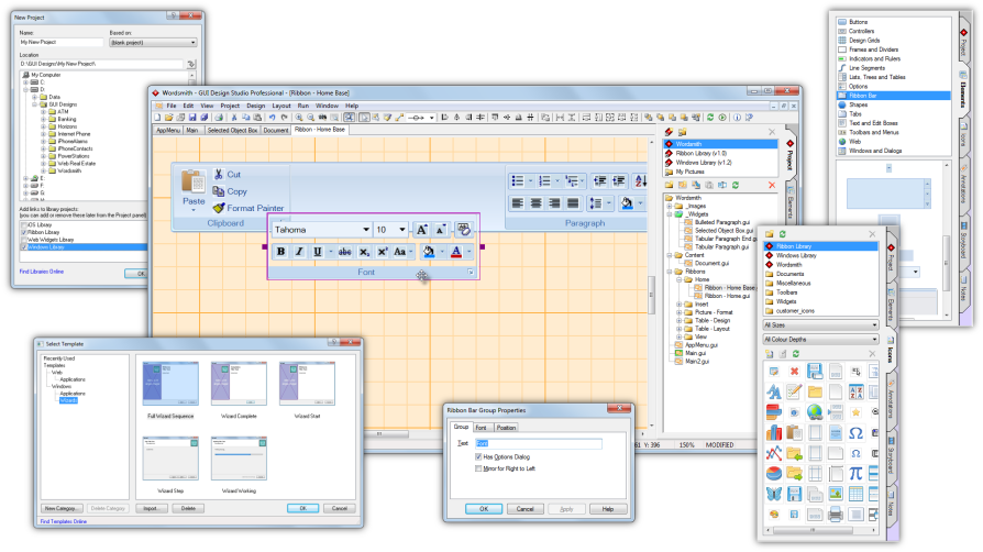 GUI Design Studio Professional full screenshot